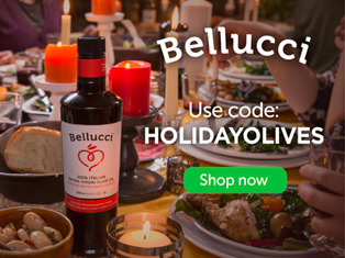 50% Online Holiday Discount on Trace-to-Source Bellucci Extra Virgin Olive Oil and 'Fast Track to Italy' Gift Packs