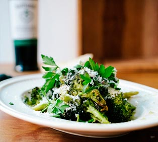 Braised Broccoli with Anchovy Vinaigrette