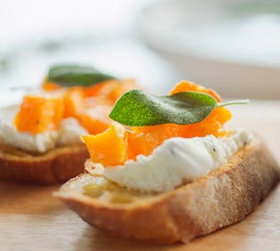 Butternut Squash & Chevre Crostini