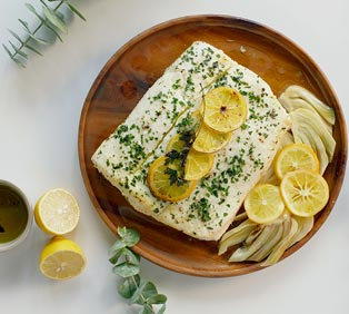 EVOO Poached Halibut