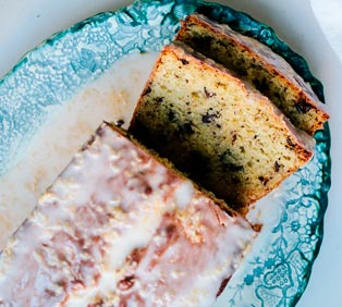 Olive Oil Grapefruit Cake with Dark Chocolate