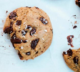 Salted Bellucci EVOO Chocolate Chip Cookies